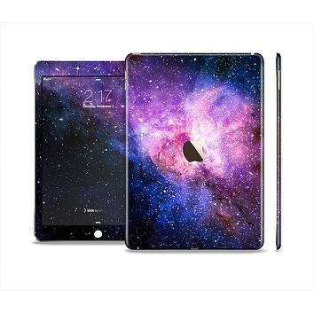 The Vibrant Purple and Blue Nebula Skin Set for the Apple iPad Pro