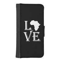 Love Africa Continent iPhone 5 Wallet Cases
