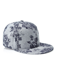 Floral-Patterned Snapback Hat