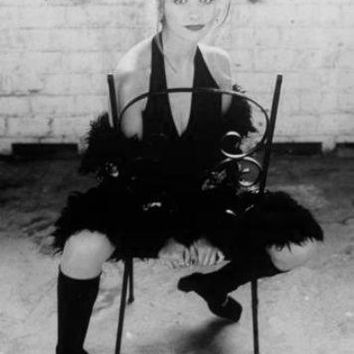 Sarah Michelle Gellar poster Metal Sign Wall Art 8in x 12in Black and White