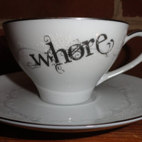 Whore Teacup and Saucer set
