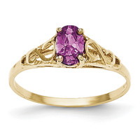 14k Madi K Synthetic Alexandrite Ring GK280