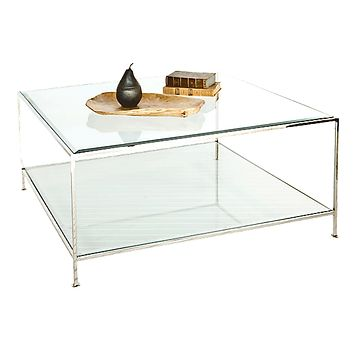 Worlds Away Quadro Nickel Coffee Table