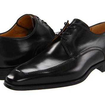 Magnanni Mens Black Pardo Leather Lace Up Oxfords Shoes Size 15