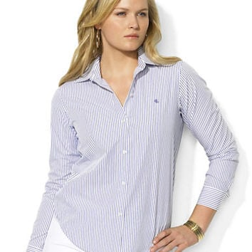 Lauren Ralph Lauren Plus Long-Sleeved Classic Non-Iron Shirt
