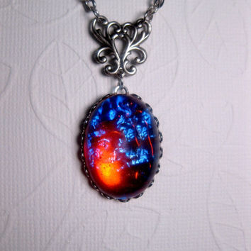Fantasy Geekery Dragon's Breath Opal Galaxy Necklace