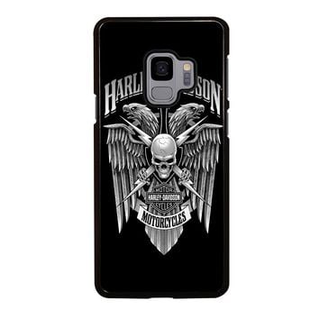 HARLEY DAVIDSON SKULL EAGLE Samsung Galaxy S4 S5 S6 S7 S8 S9 Edge Plus Note 3 4 5 8 Case Cover