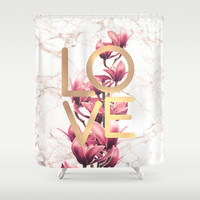 Love Shower Curtain by printapix