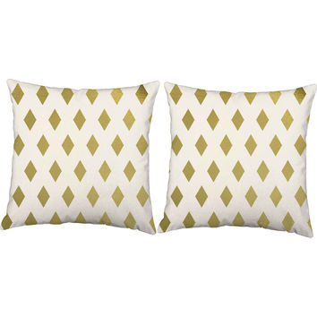 Best White And Gold Throw Pillows Products on Wanelo