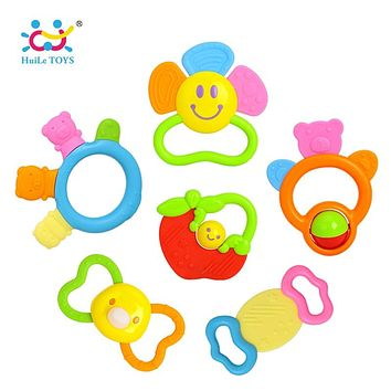 Baby Toys Newborn Teether Hand Bells Baby Toys 0-12 Months Teething Development Infant Early Educational Baby Rattles Toys