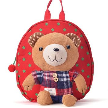 The New 2017 Cotton Fabric Backpack for  Kindergarten Student's Cartoon Backpack for Children Mini Rucksack for Kids Cute Bags