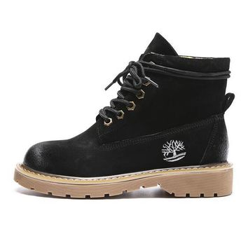 Timberland Autumn Winter Fashion Women Personality Boots Shoes Waterproof Martin Boots Black I12999-1