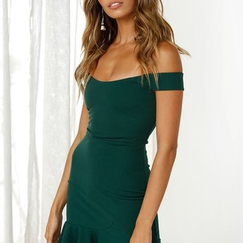 Starstruck Mini Dress FOREST GREEN