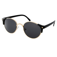 ASOS Metal Round Sunglasses With Corner Detail