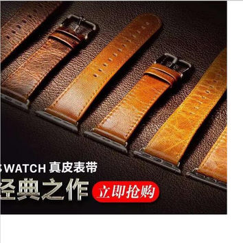 Dalan Genuine Leather Loop For Apple Watch Band 42Mm Series 2 With Connector
