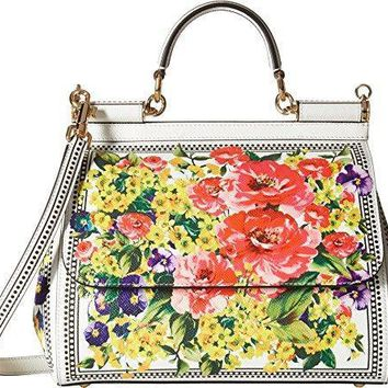 Dolce & Gabbana Womens Floral Printed Sicily Bag