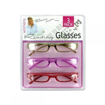 3 Pack Womens Reading Glasses GI002