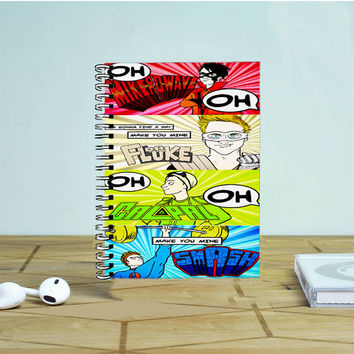 5 Sos Superhero Quote Photo Notebook Auroid