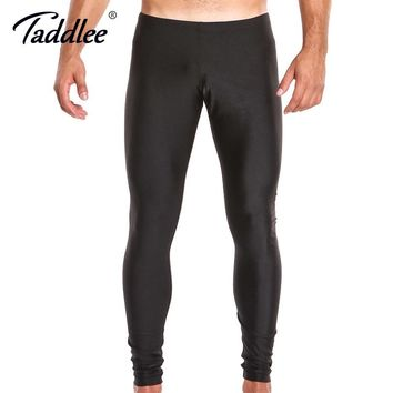 Taddlee Brand Sexy Legging Men Low Waist Spandex Long Sports Pants Man Tights Running Stretch Bottoms Gay Workout Active Jogger