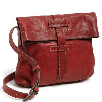 New with Tag - Frye Artisan Burnt Red Foldover Leather Crossbody Bag
