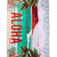 Junior Women's Rip Curl 'Aloha Spirit' Velour Beach Towel - Ivory