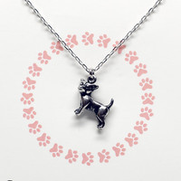 Missy In Paws We Trust Necklace with Chihuahua Pendant
