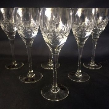 Czech bohemia crystal cut  glass Liquer glasses  13cm 60ml (the price is for 6 glasses)