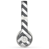 The Sharp Gray & White Chevron Pattern Skin for the Beats by Dre Solo 2 Headphones