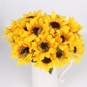 Silk Decorative Sunflower Bouquet