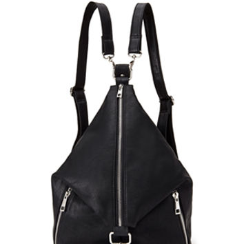 FOREVER 21 Convertible Zip-Front Backpack Black One