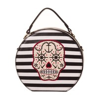 Banned Young Years Bag Striped Sugar Skull Nautical Style