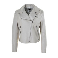 Aqua Womens Leather Asymmetric Motorcycle Jacket