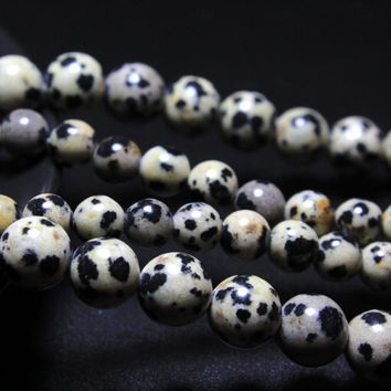 New Arrival Dalmation Jasper Dot Stone Beads Natural Stone Beads For Jewelry Making Diy Necklace Bracelet 4mm 6mm 8mm 10mm 12mm