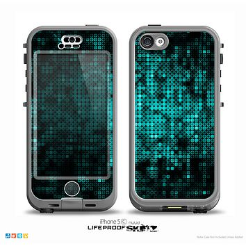 The Glowing Digital Green Dots Skin for the iPhone 5c nüüd LifeProof Case