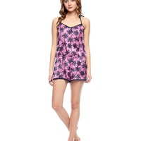 Soft Hush Forever Forever Palms Silk And Lace Romper by Juicy Couture,