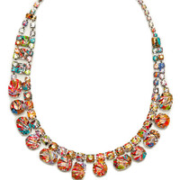 A Riot Of Color Painted Crystal Necklace by Tom Binns - Moda Operandi
