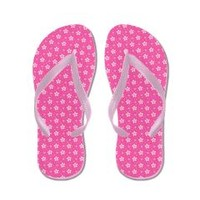 Pink Flowers Flip Flops> LOTS OF FLIP FLOPS> THE AFTERLIFE ONLINE CLOTHING STORE