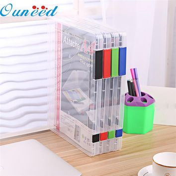 Zero A4 Transparent Storage Box Clear Plastic Document Paper Filling Case File