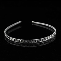 New Women Girl Lady Fashion Shine Metal Crystal Headband Head Piece Hair Band Jewelry