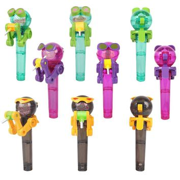 Creative Novelty Toy Funny Lollipop Robot toy Lollipop Holder Decompression candy dustproof toy gift Drop Shipping