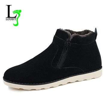 Men Boots With Fur 2017 Winter Snow Boots Men Outdoor Shoes Warm Men Footwear Rubber Ankle Boot Winter Shoes
