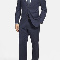 Men's Big & Tall David Donahue 'Ryan' Classic Fit Plaid Wool Suit