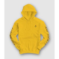 Sunflower Embroidered Mens Hoodie