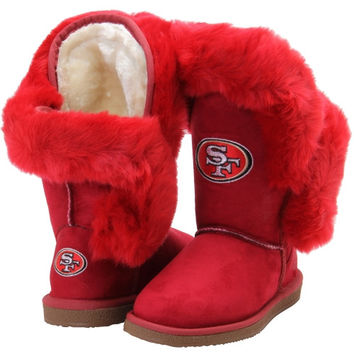 Women's Cuce Shoes Scarlet San Francisco 49ers Champions Boots
