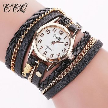 ON SALE - Night Time Leather Wrap Watch
