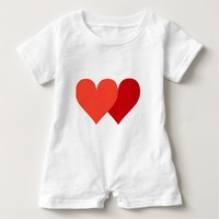 Two hearts Valentine's Day Baby Romper