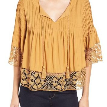 Tularosa Pleated Woven Top | Nordstrom