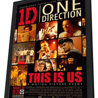 One Direction 27x40 Framed Movie Poster (2013)