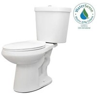 Glacier Bay 2-piece 1.1 GPF/1.6 GPF High Efficiency Dual Flush Complete Elongated Toilet in White N2316 at The Home Depot - Mobile