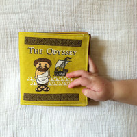 IN STOCK The Odyssey by Homer small baby toddler book cloth quiet fabric cute Greek ancient myth Little Literary Classics